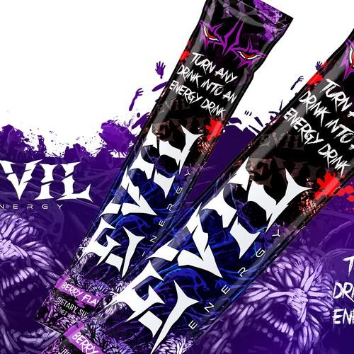Packet Design for Evil Energy Drink