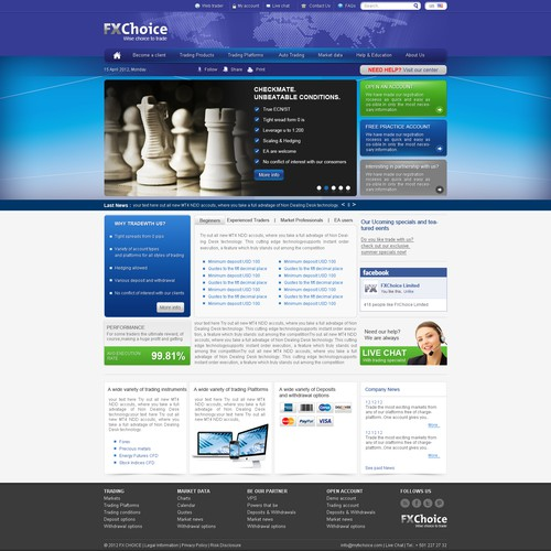 FXChoice Limited Website Design