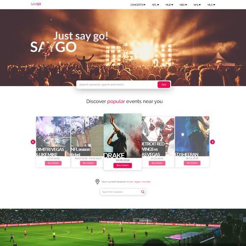 SayGo home page design