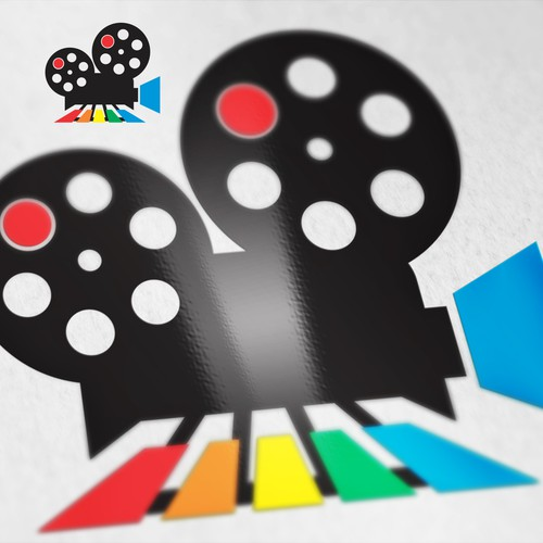 Colorful Logo for Movie Festival