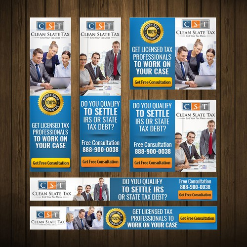 Banner Ad Design for Tax Firm