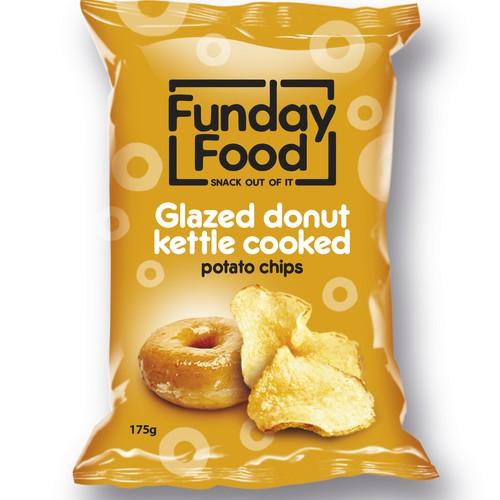 Glazed doughnut kettle chips