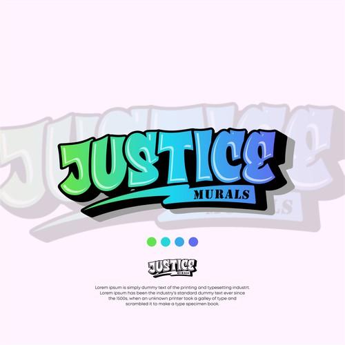 Justice Murals logo design