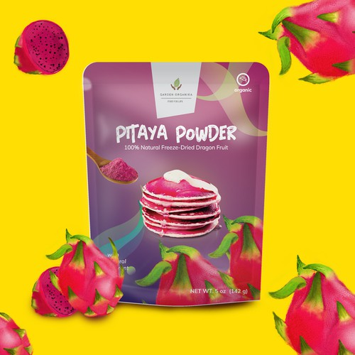 pitaya powder packaging design