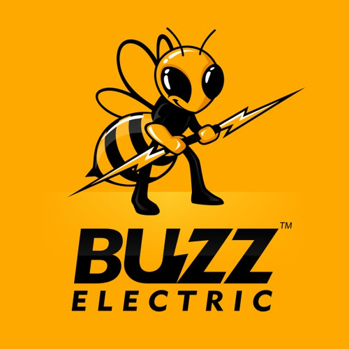 Create a logo for Buzz Electric with a bee and a lightning bolt!
