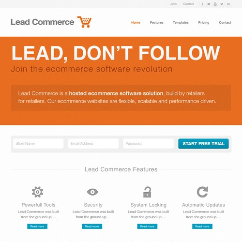 New website design wanted for Lead Commerce