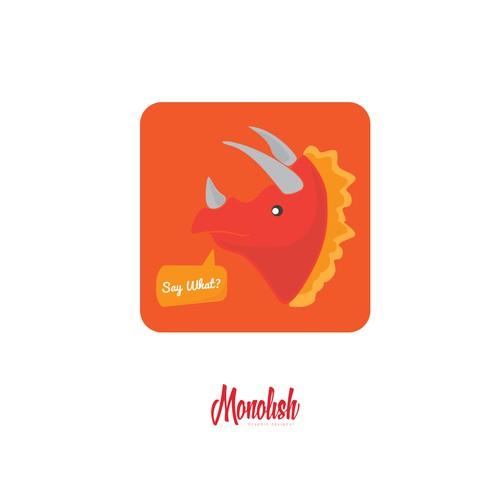 Character Design: Hip Dinosaur Mascot for a mobile App