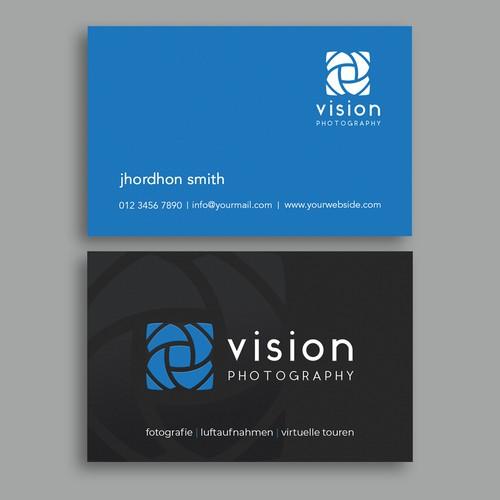 Erstelle die perfekte Visitenkarte für vision photography
