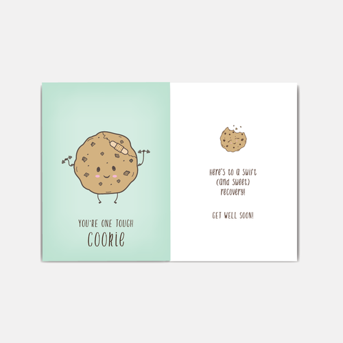 Get well cookie card