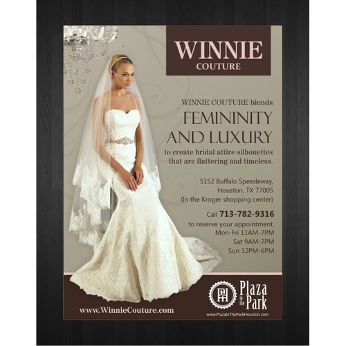 Create an ad for Winnie Couture