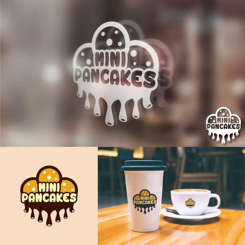 Fun and yummy logo for Mini Pancakes