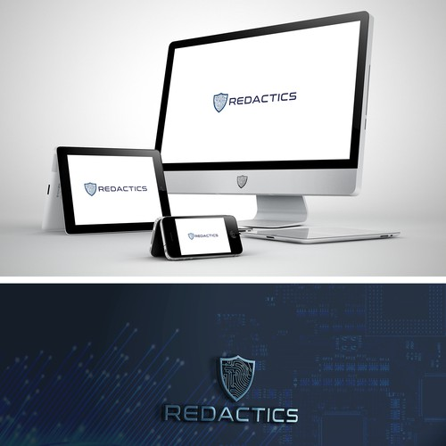 Powerful logo for cybersecurity startup data engineers IT Professional