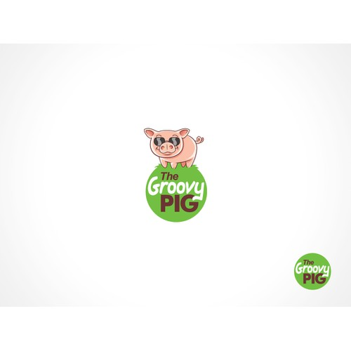 Create the next logo for The Groovy Pig