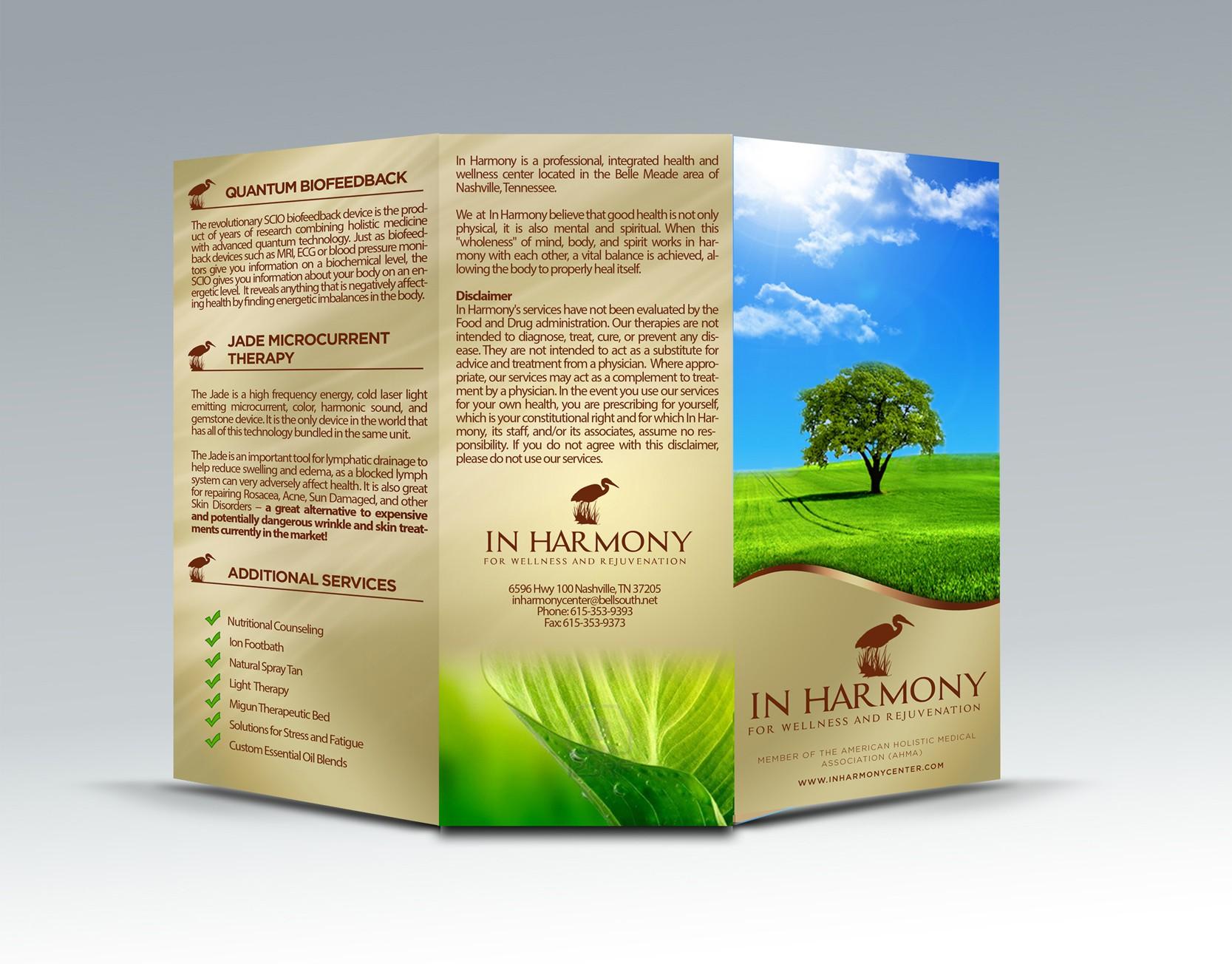In Harmony needs a new brochure design