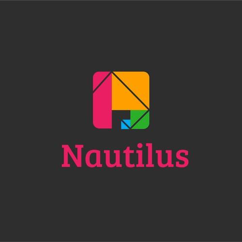 Clean & simple web logo design for Nautilus