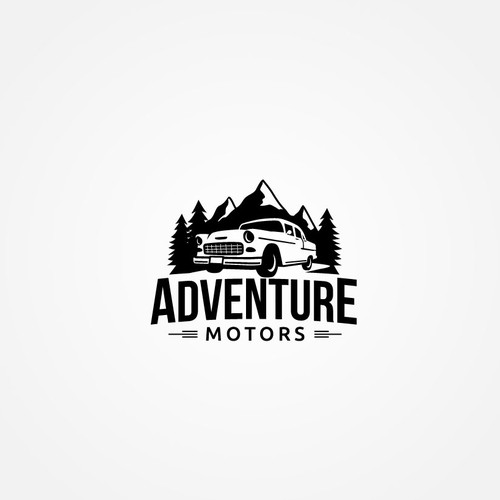 Vintage logo design for Adventure Motors