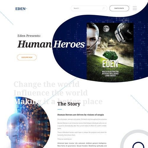 Minimal Abstract Website Design for Film Production Company