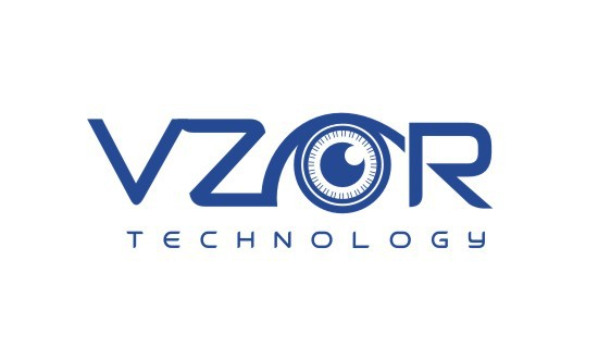 Create the next logo and business card for VZOR Technology