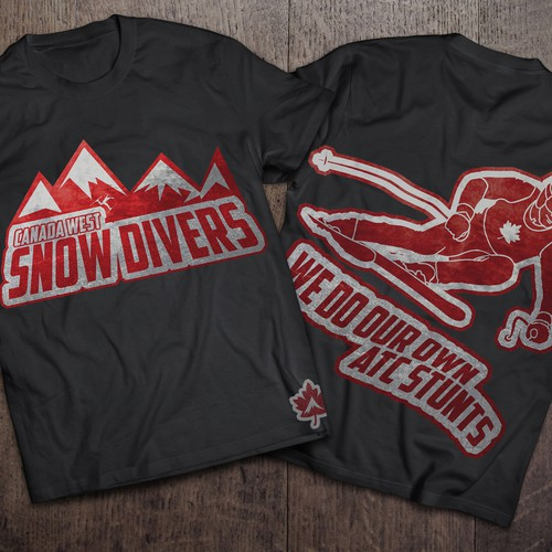 T-shirt design for an Air Traffic Controllers  alpine ski team.