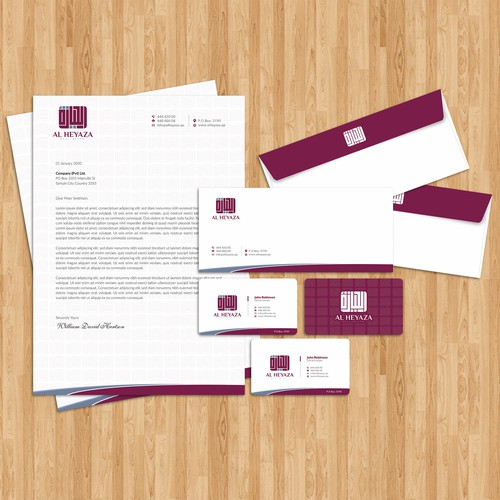 "Uniqe and Attractive Stationary Package for ""Al Heyaza"" Real State"
