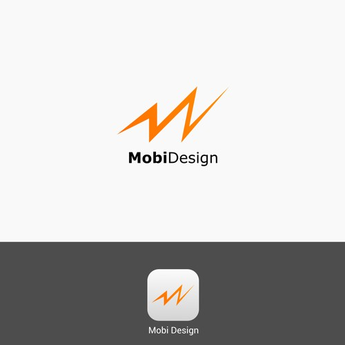 Application logo for Mobi Design.