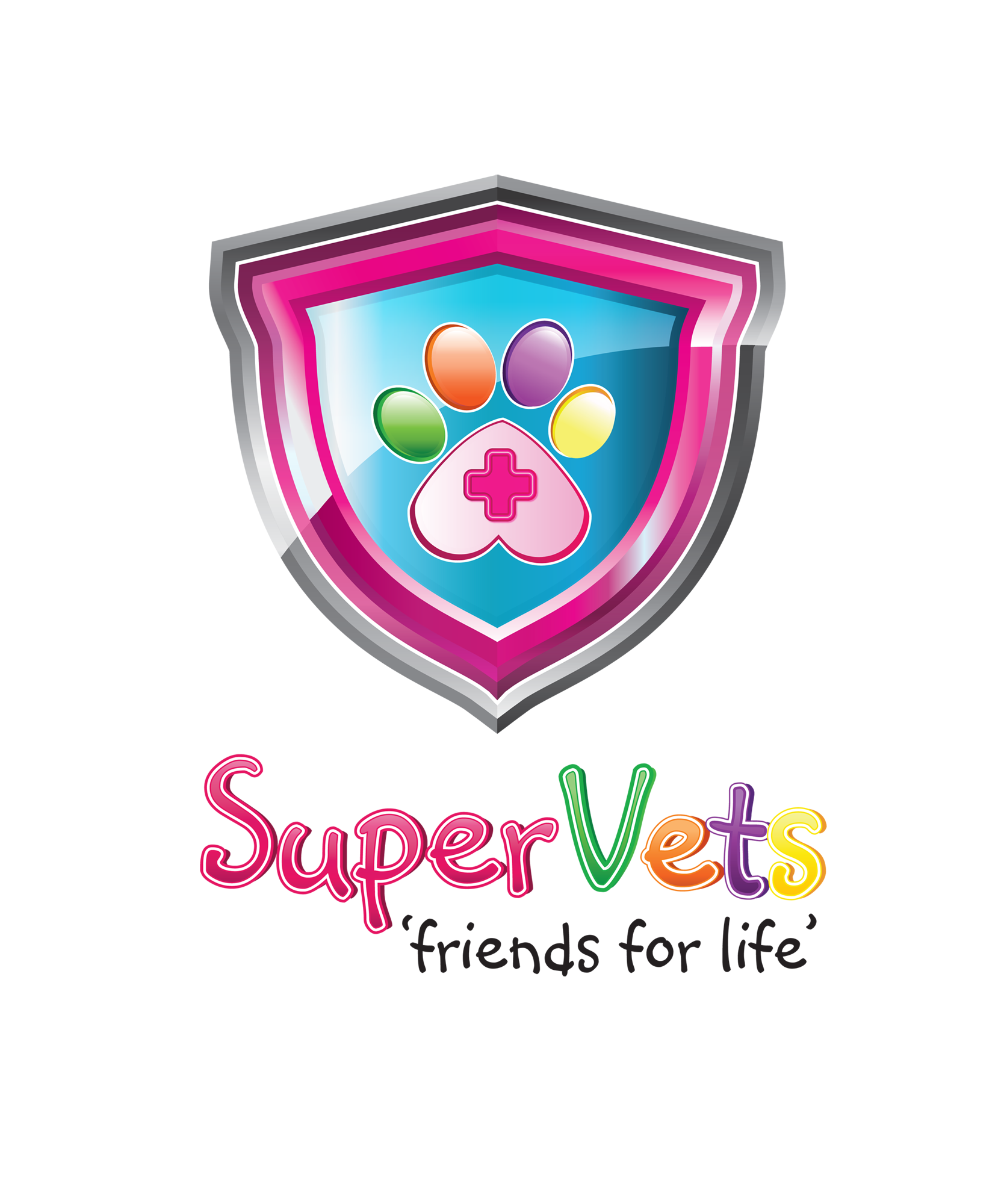 Logo for SuperVets - 'friends for life'