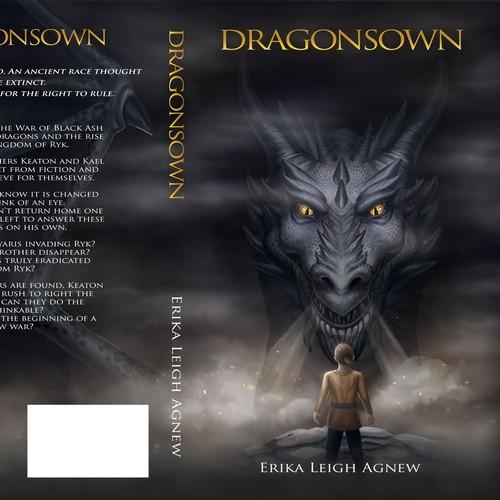 Illustrated fantasy book cover design