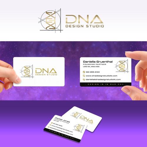 Business card design for DNA Design Studio