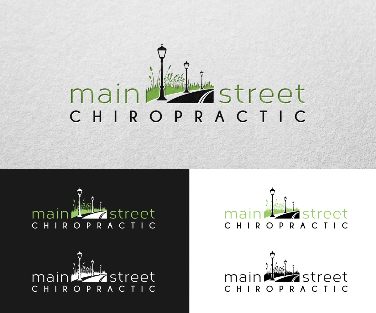 Create a logo for a chiropractic clinic and yoga studio. Surfer/big city feel.