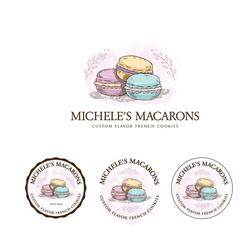 Bold logo concept for French Macaron cookies