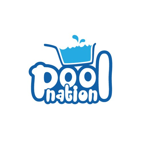 Create a simple modern logo for our Pool Shop
