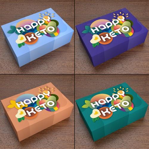 Packaging for keto diet snacks subscription box