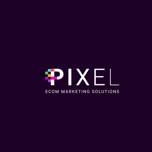 Multi Color combination Pixel Logo.