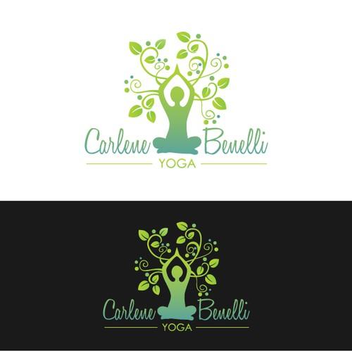 Carlene Benelli Yoga logo design