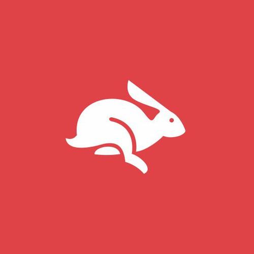 rabbit logo concept