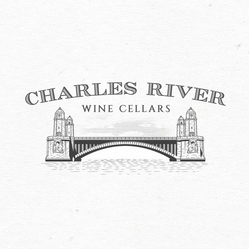 Bold logo for Charles River Wine Cellars