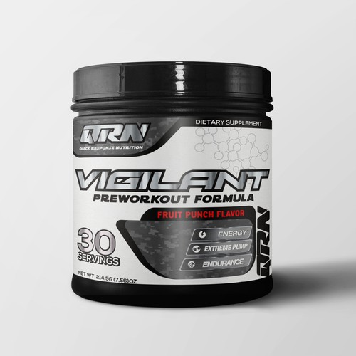 modern look supplement label