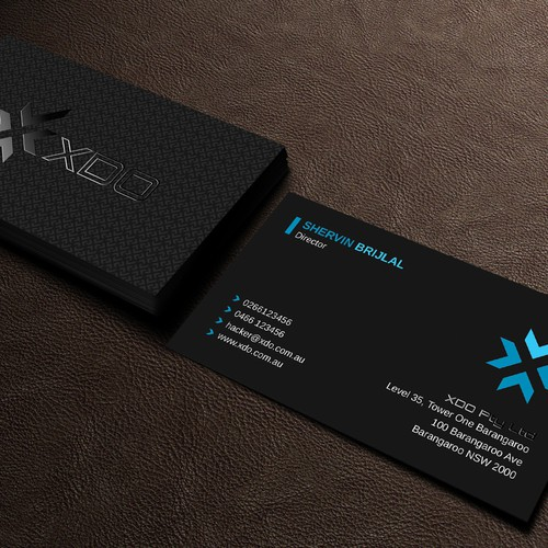 Business card for IT security business