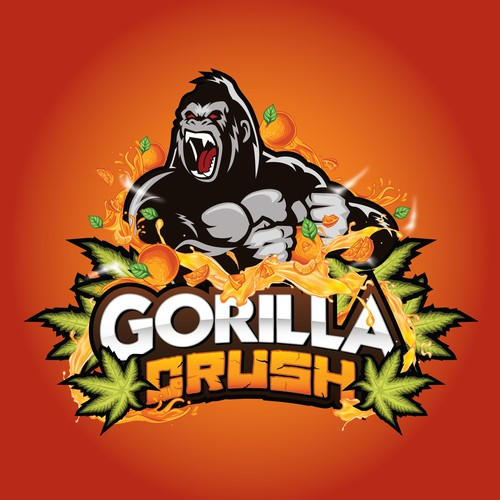 "New Character Logos for Cannabis Products ""Gorilla Crush"""
