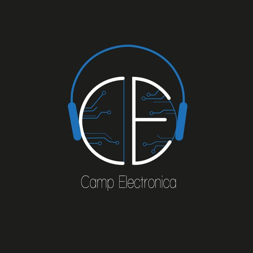 logo concept for camp electronica