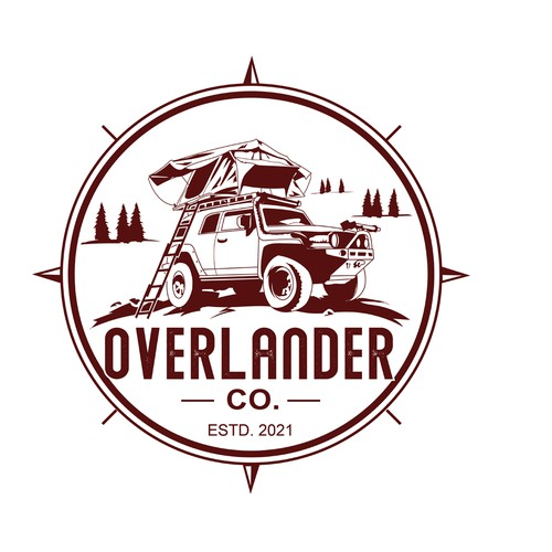 A logo for Overlanding Expedition vehicles