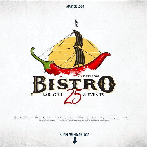 "Bold Logo For ""BISTRO 25"""