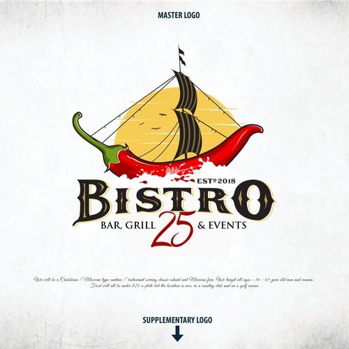 "Bold Logo For ""BISTRO 25"""