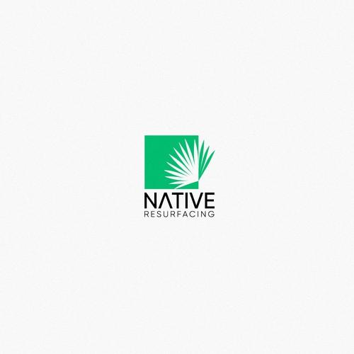Negative space logo.