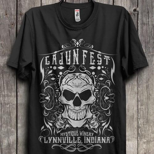 Cajun Fest Sugar Skull Design