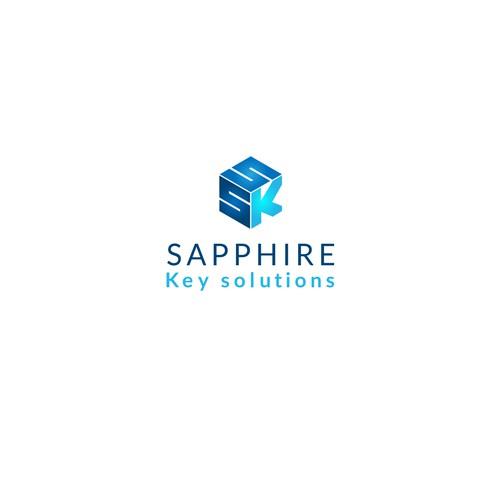 Logo design for Sapphire Key Solutions