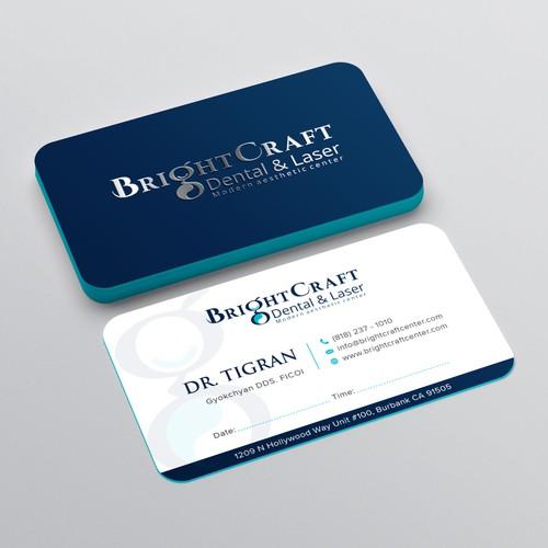 BrightCraft Business Card Design