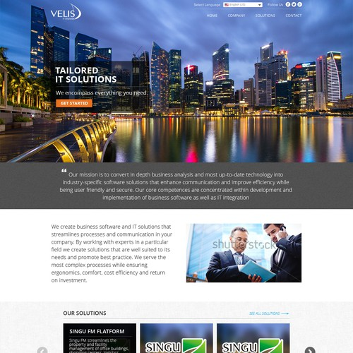 New, creative and innovative website for Velis IT Systems