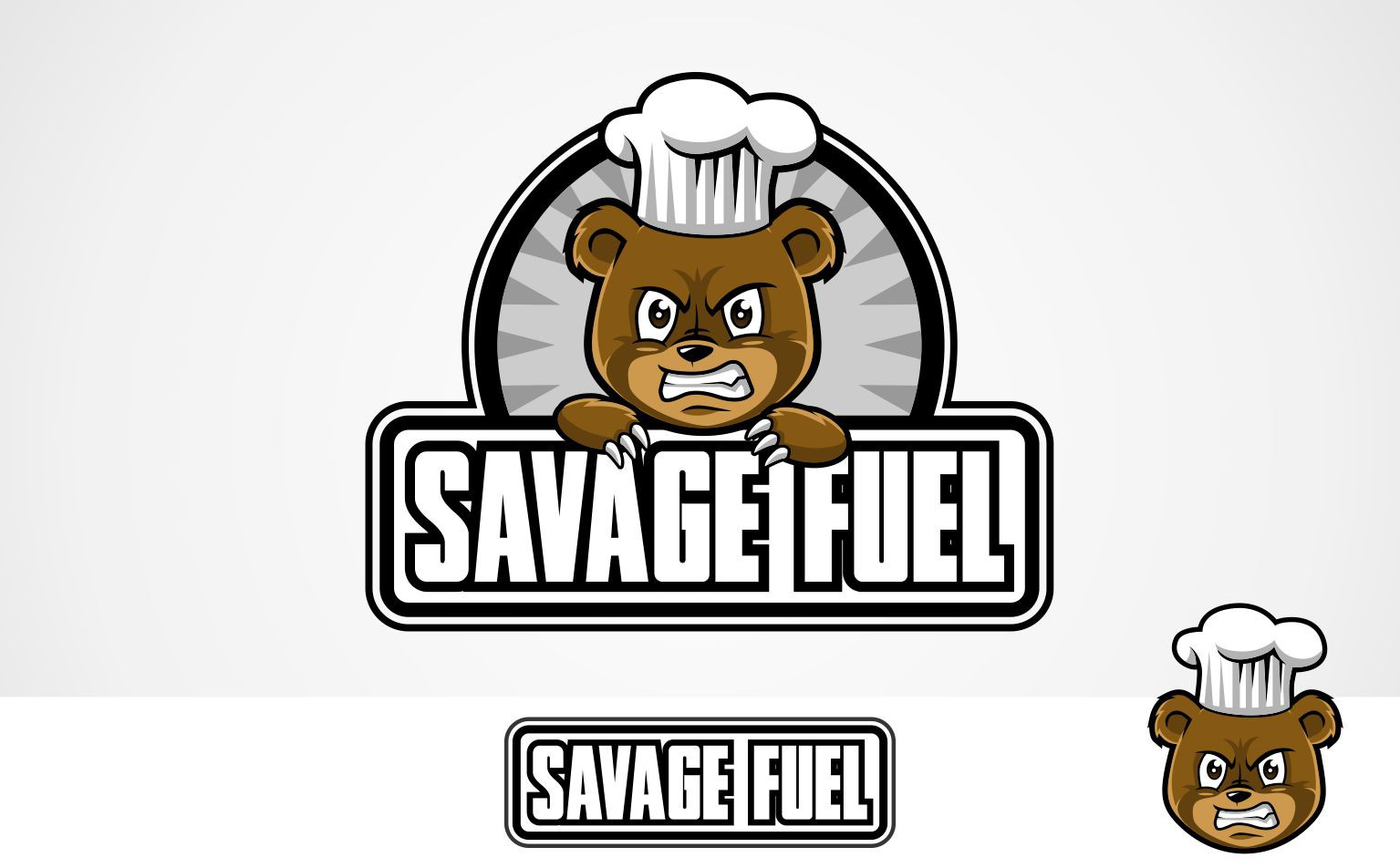 Cute but fierce bear cub logo wanted for Savage Fuel! Very detailed brief, take a look!