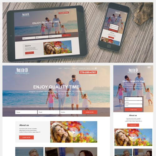 Landing page attractive to women